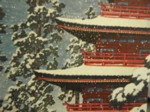 detail from hasui, saioshoine temple