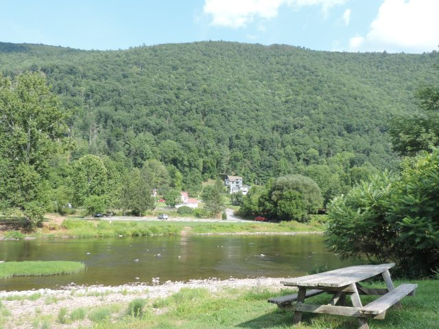 Pine Creek, low water at Slate Run village. North-central PA has missed the rains of late...