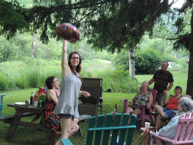 Alyssa at her birthday, now  returned to Scotland