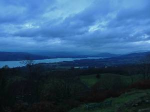 Windermere from a hilltop at dawn