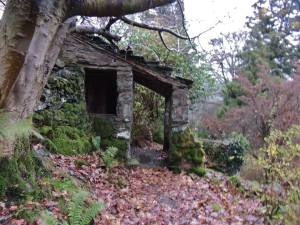"""Wordsworth's summer house where he would sit (w/ a 360 degree view in his day) and """"boom out his work over the valley"""""""
