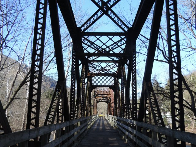 """Gappin' the bridges, straight or not."" (Pine Creek @ Waterville, PA)"