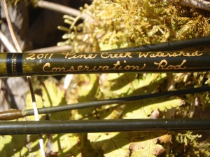 My 7-foot Pine Creek watershed rod.