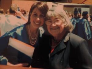 Ilse Franklin (1926-2016) @ age 81, with 2007 H.S. grad, Alyssa Franklin.