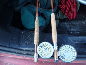 angler bambooze (T.&T. 5 wt. left; Orvis 7-wt. right)