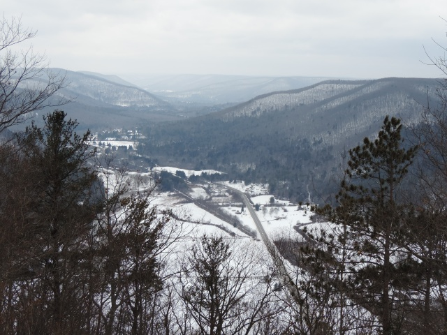 looking down on Rt. 6, west toward Galeton